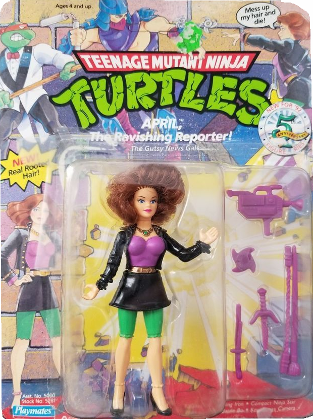Playmates Teenage Mutant Ninja Turtles Ray April the Ravishing Reporter Figure