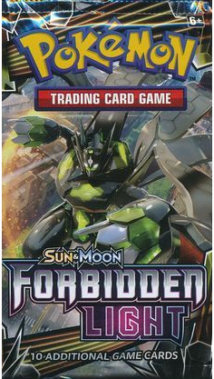 Pokemon Sun and Moon Forbidden Light Booster Pack