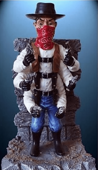 Puppet Master 1990 Series Six Shooter Statue