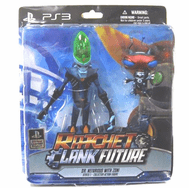Ratchet Clank Dr. Nefarious and Zoni Figure Set