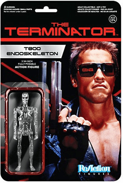 ReAction The Terminator Chrome T-800 Endoskeleton Figure