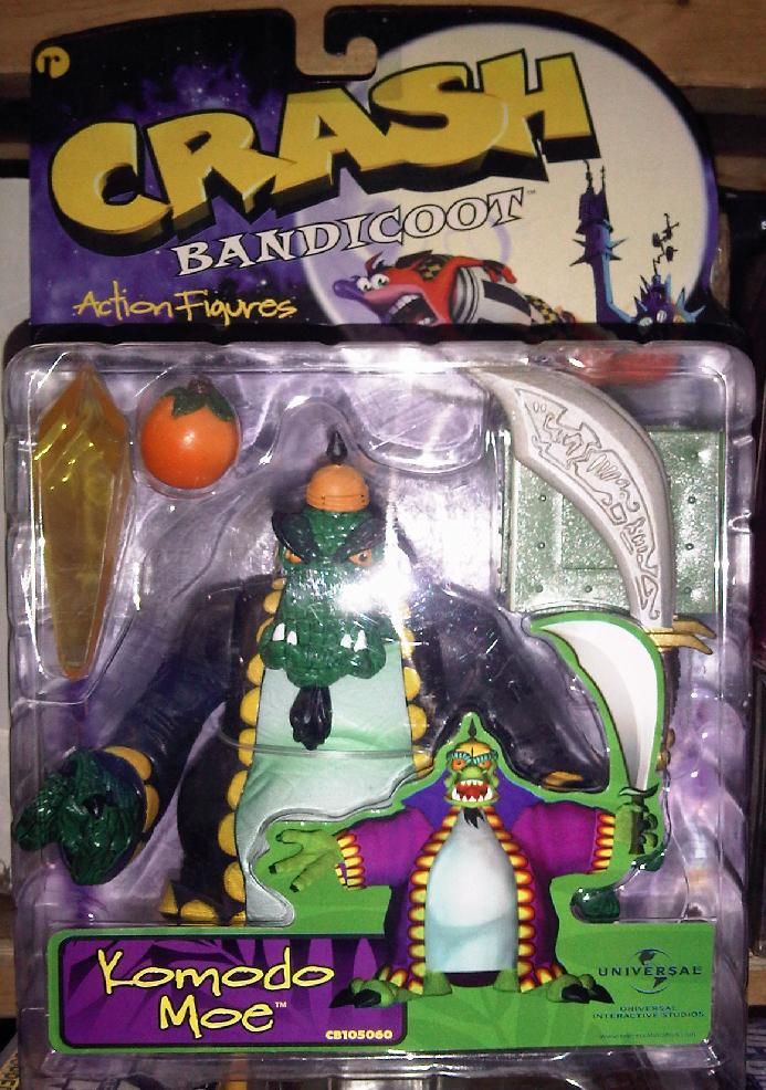 Resaurus Toys Crash Bandicoot Komodo Moe Action Figure