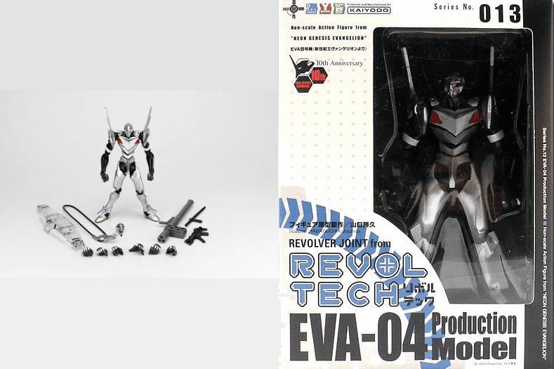 Revoltech #13 EVA-04 Production Model Yongouki Action Figure