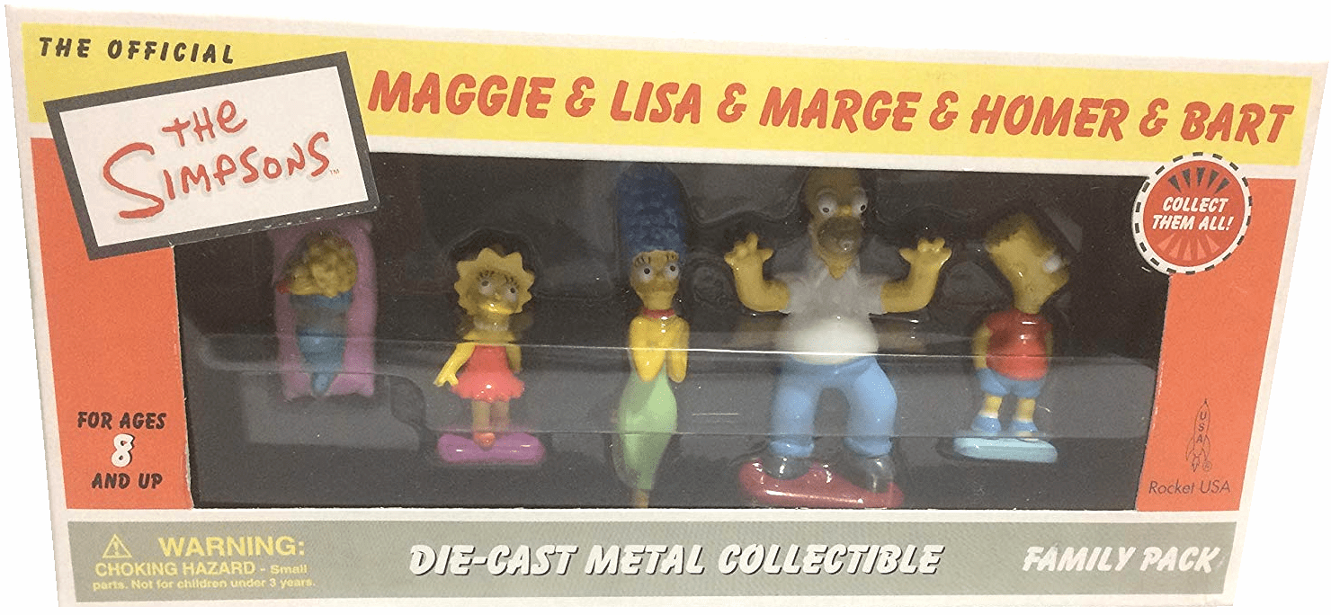 Rocket USA The Simpsons Family Die-Cast Figurine Set