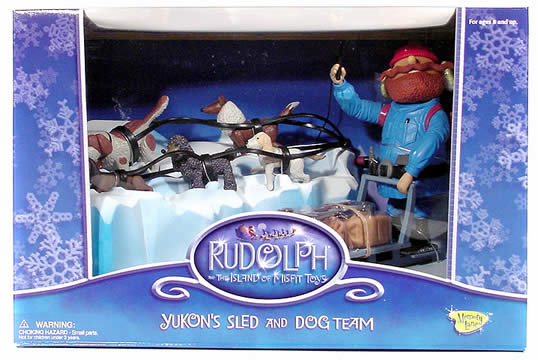 Rudolph The Red Nose Reindeer Yukon's Sled and Dog Team Set