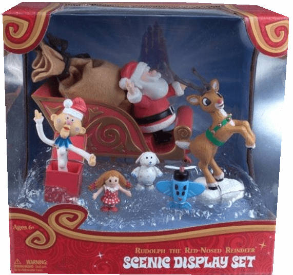 Rudolph the Red-Nosed Reindeer Misfit Island Scenic Display Set