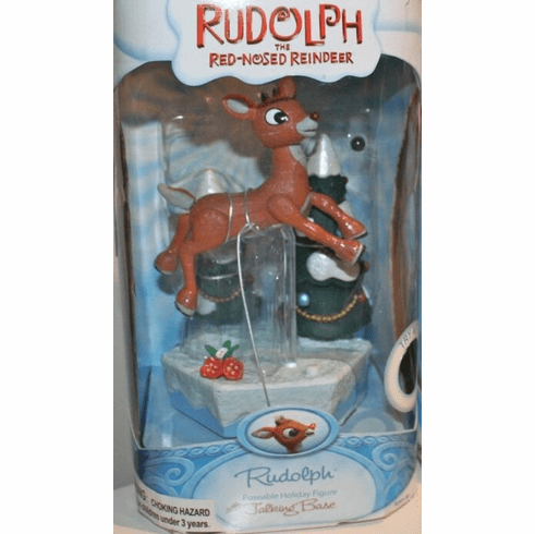 Rudolph the Red-Nosed Reindeer Talking Base Rudolph Figure