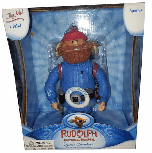 Rudolph the Red Nosed Reindeer Yukon Cornelius Deluxe Talking Figure