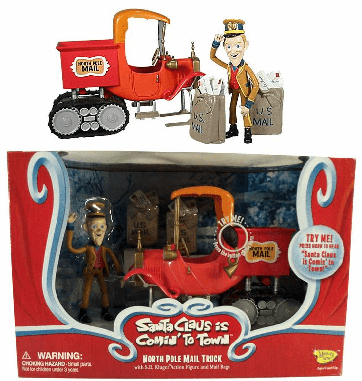 Santa Claus is Coming to Town North Pole Mail Truck Vehicle