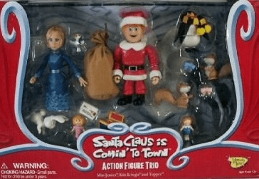 Santa Claus is Coming to Town Trio Figure Set
