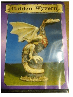 Scotia Grendel Productions Golden Wyvern Miniature Display