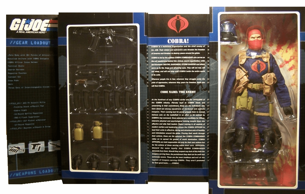 "Sideshow Collectibles GI Joe Cobra Officer 12"" Action Figure"
