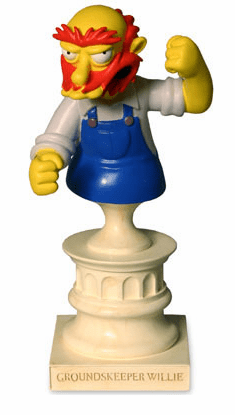 Sideshow The Simpsons Groundskeeper Willie Polystone Bust