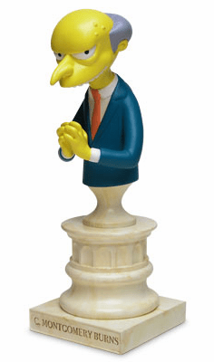 Sideshow The Simpsons Mr. Burns Polystone Bust