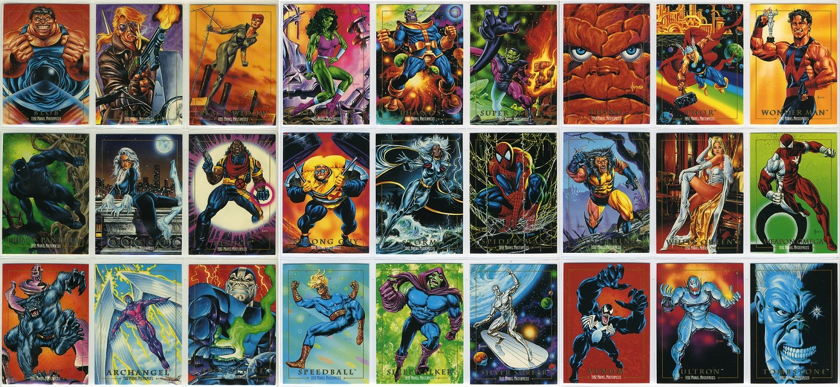 Skybox Marvel Masterpieces 1992 Series 1 Complete Set