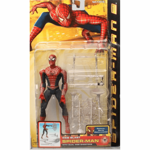Spider-Man Movie 2 Web Blast Spider-Man Figure