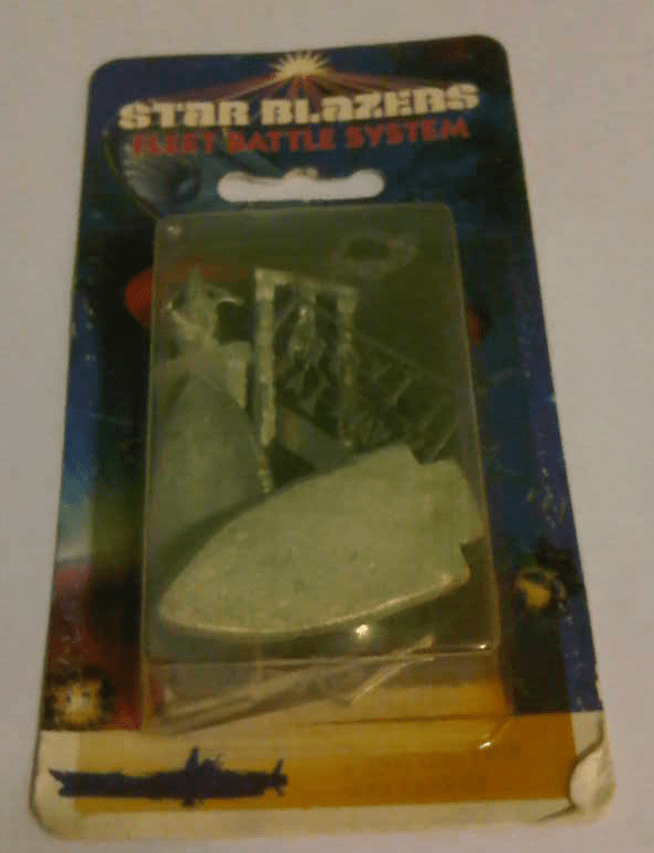 Star Blazers Fleet Battle System Comet Twin Deck Carrier Miniature