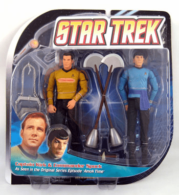 Star Trek Amok Time Kirk and Spock 2 pack Action Figure Set