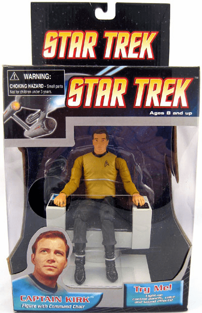 Star Trek Captain Kirk with Electronic Command Chair Deluxe Figure
