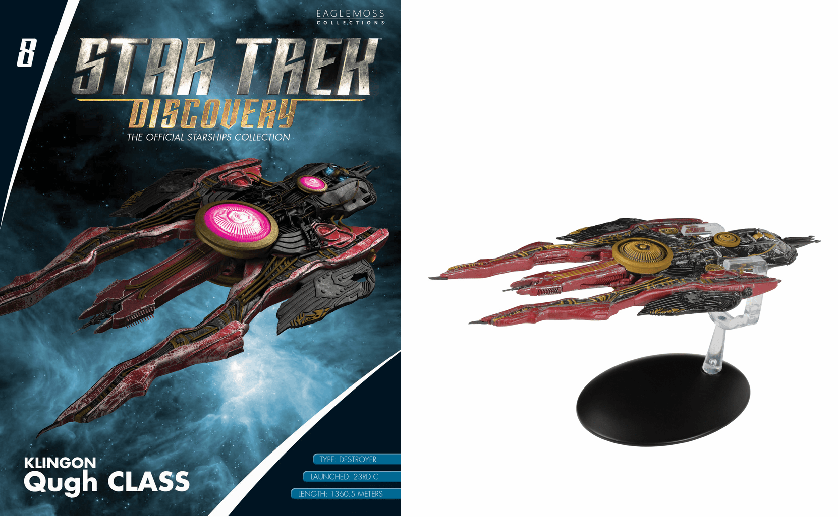 Star Trek Discovery Ship Collection Magazine Klingon Qugh Class