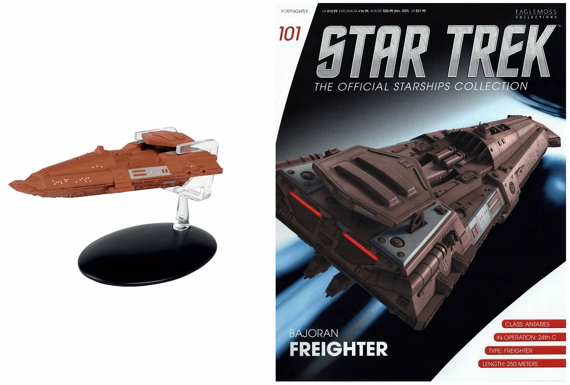 Star Trek Ship Collection Magazine 101 Bajoran Freighter