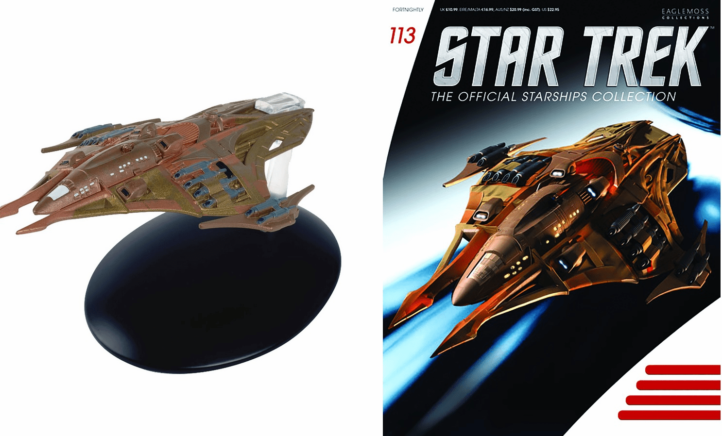 Star Trek Ship Collection Magazine 113 Lokirrim Fighter Ship