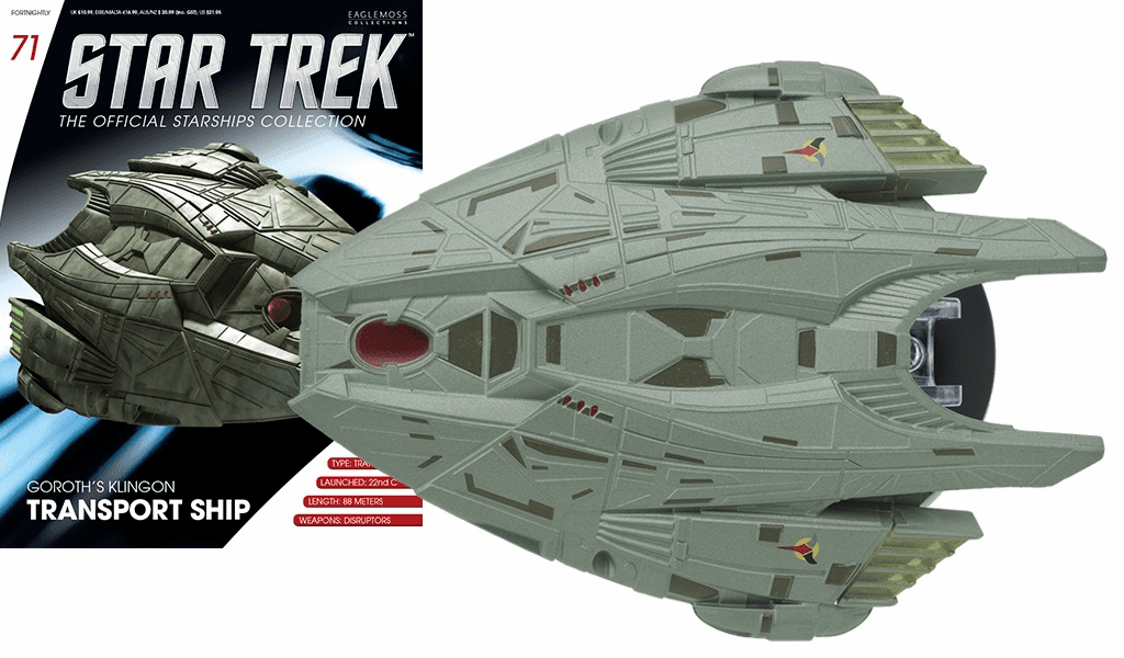 Star Trek Ship Collection Magazine 71 Goroth's Klingon Transport Ship