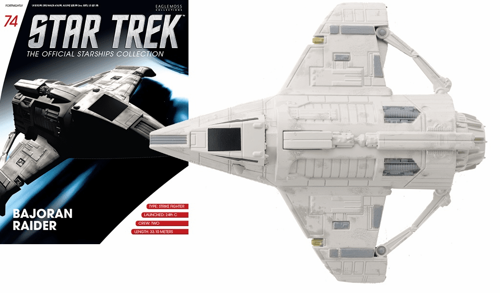 Star Trek Ship Collection Magazine 74 Bajoran Raider Ship