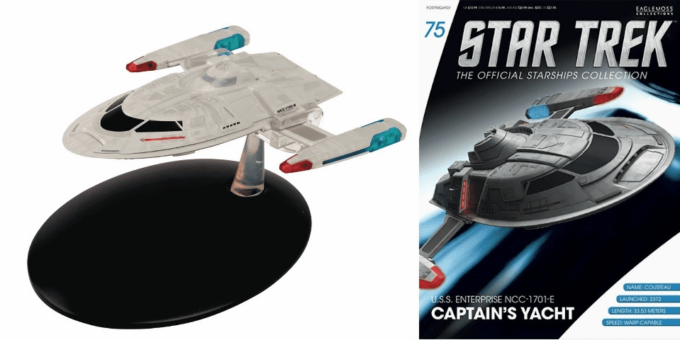 Star Trek Ship Collection Magazine 75 Enterprise E Captain's Yacht