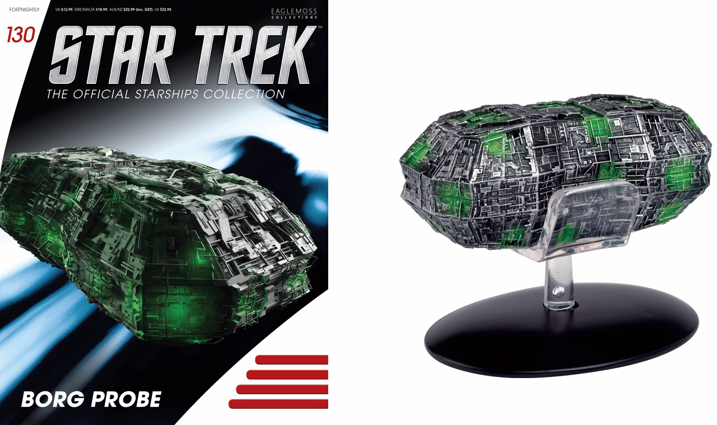 Star Trek Ship Collection Magazine Borg Probe