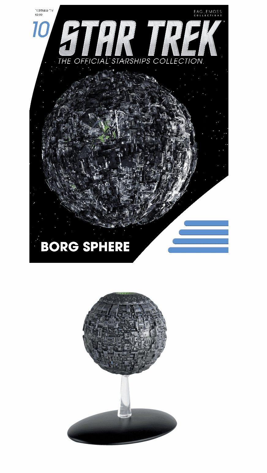Star Trek Ship Collection Magazine Borg Sphere