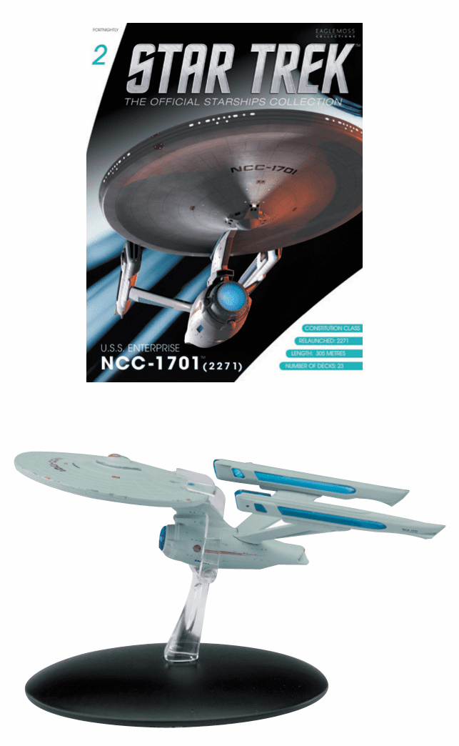 Star Trek Ship Collection Magazine USS Enterprise NCC 1701 Refit