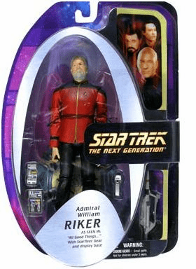 Star Trek The Next Generation Admiral Riker Figure Wholesale Case