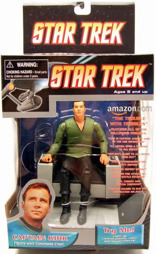 Star Trek Trouble with Tribbles Captain Kirk in Chair Deluxe Figure