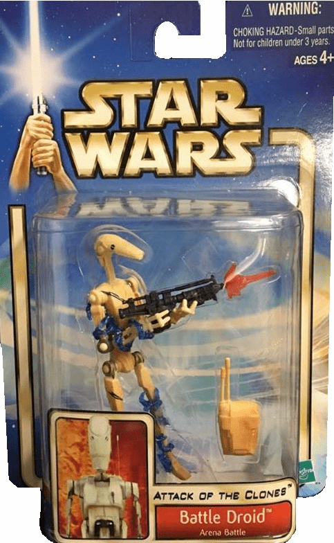 Star Wars Attack of the Clones Battle Droid Figure
