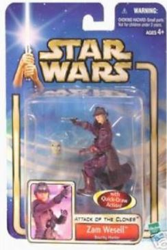 Star Wars Attack of the Clones Zam Wesell Figure