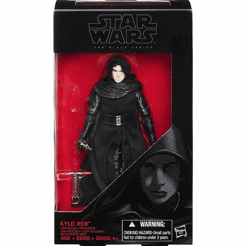 Star Wars Black Series The Force Awakens Unmasked Kylo Ren Figure