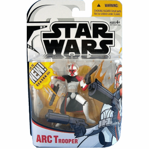 Star Wars Clone Wars ARC Trooper Captain Figure