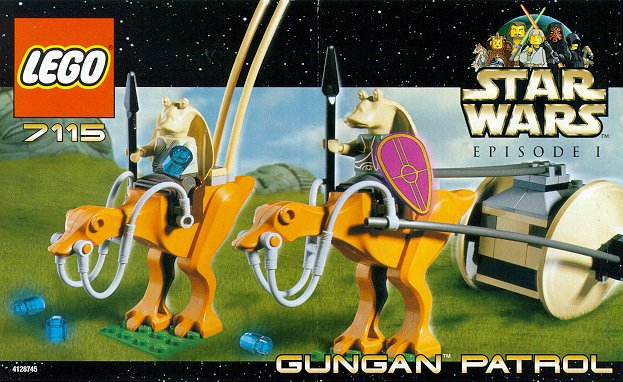 Star Wars Lego 7115 Gungan Patrol Set