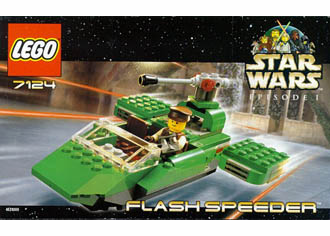 Star Wars Lego 7124 Flash Speeder Set