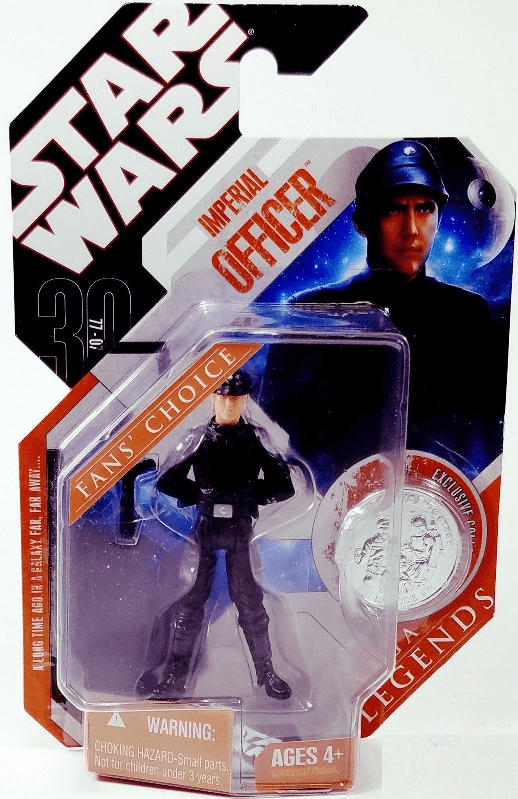 Star Wars Saga Legends Imperial Officer Blonde Hair Figure