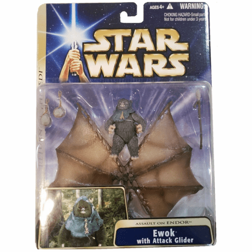 Star Wars Saga Return of the Jedi Ewok with Attack Glider Figure
