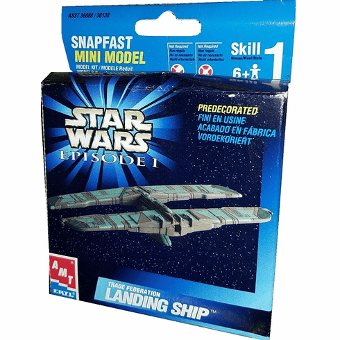 Star Wars Trade Federation Landing Ship Snapfast Mini Model