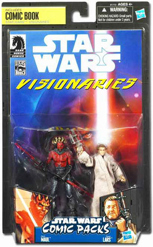 Star Wars Visionaries Darth Maul & Owen Lars SDCC 2010 Exlusive 2 Pack