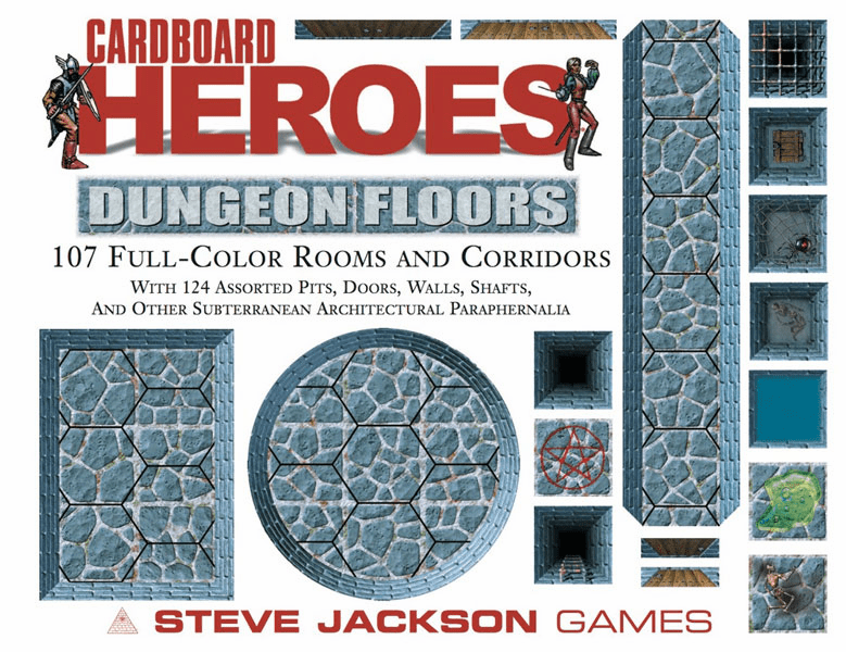 Steve Jackson Games Cardboard Heroes Dungeon Floors
