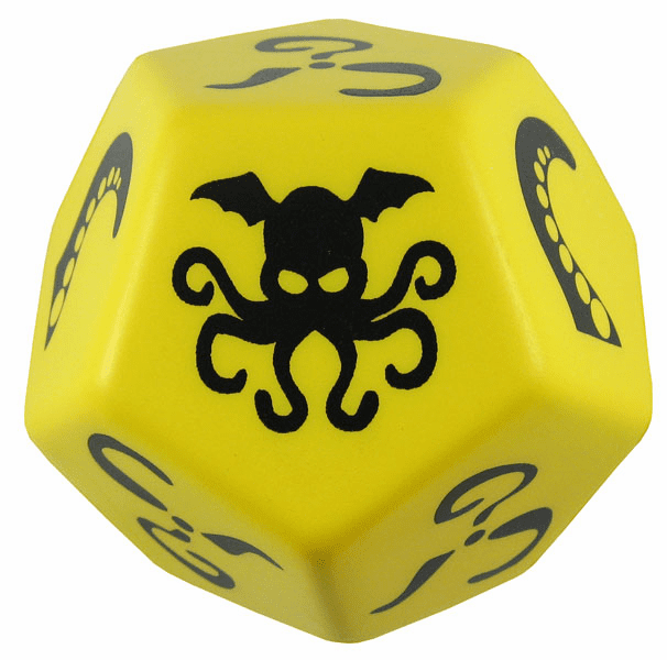 Steve Jackson Games Giant Cthulhu Foam Yellow Dice