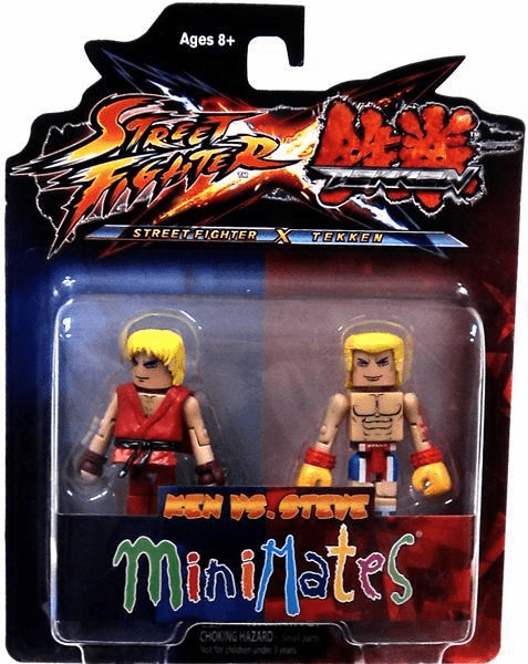Street Fighter X Tekken Ken vs Steve Minimates Figure Set