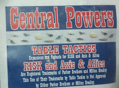 Table Tactics Axis and Allies Central Powers Expansion Game