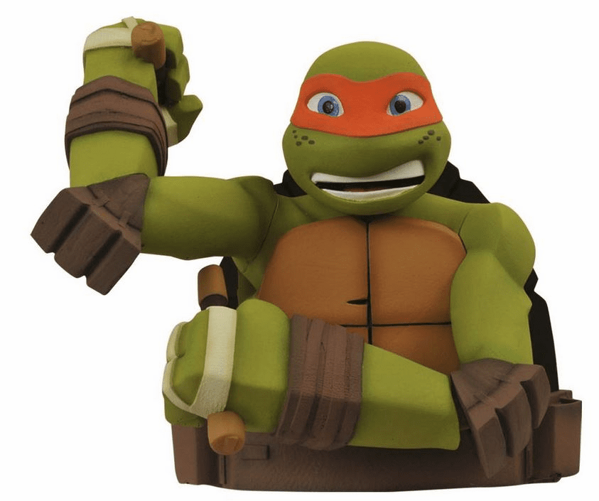 Teenage Mutant Ninja Turtle Michelangelo Bust Coin Bank