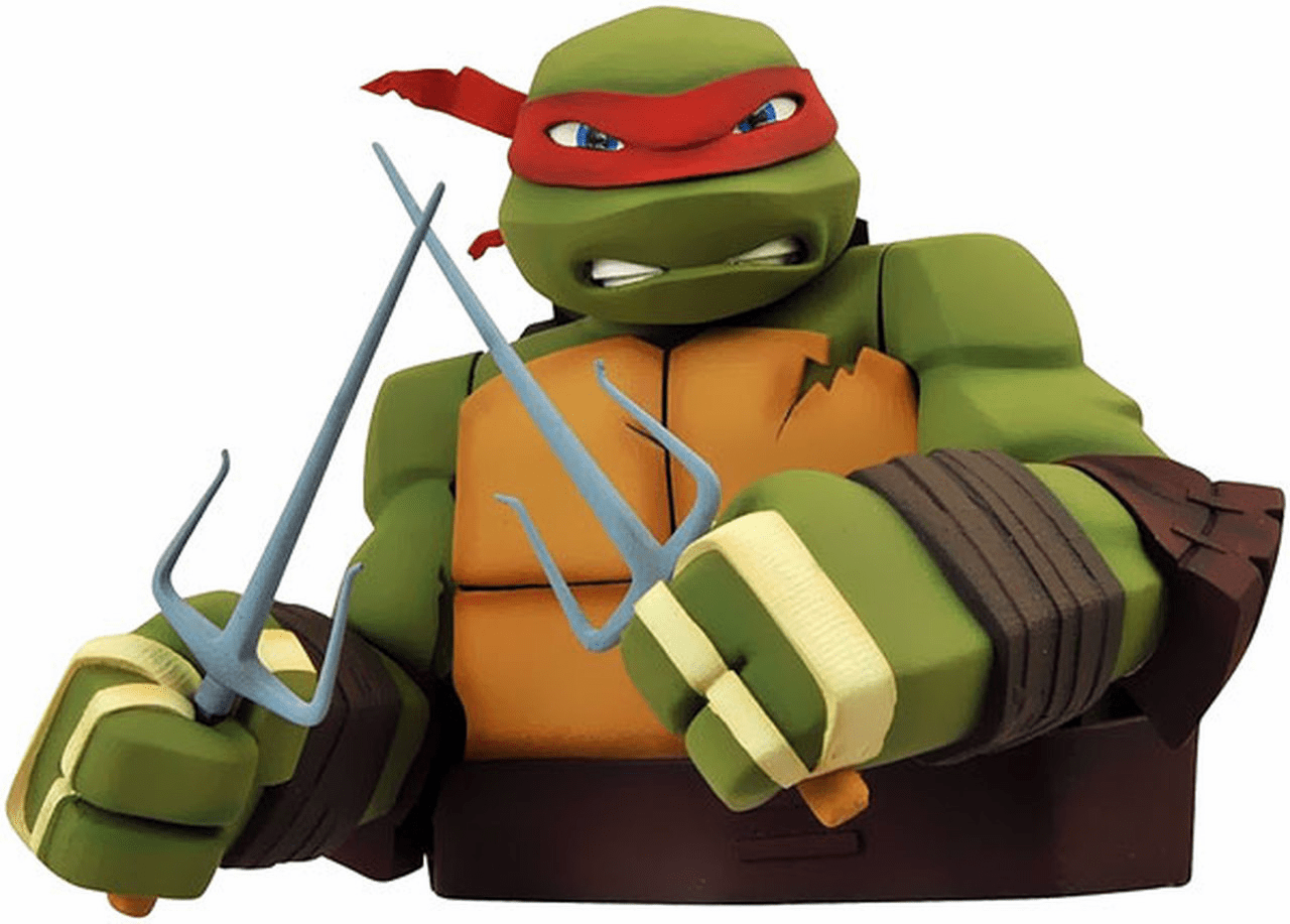 Teenage Mutant Ninja Turtle Raphael Bust Coin Bank